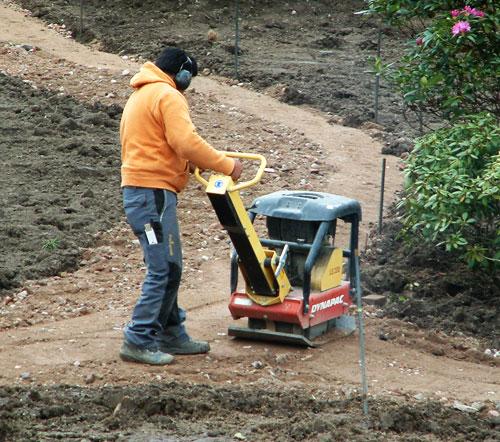 Contructing path in American Garden