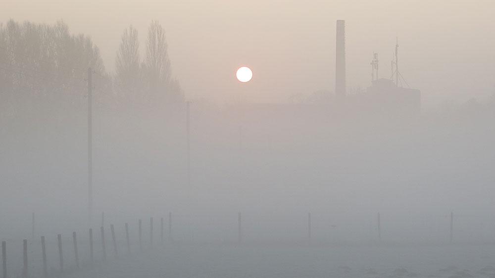 Viller Mill on a hazy morning